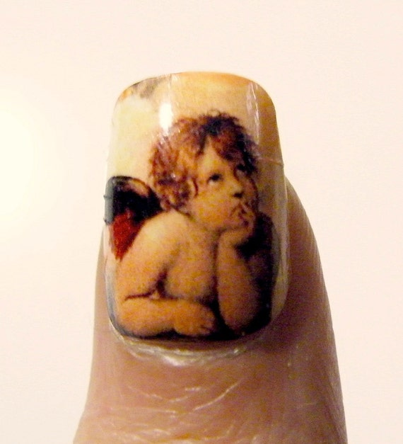 Nail Art History: Angel Nail Polish Art Nails Mani Pedi Art History By