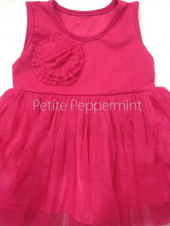 Hot Pink Baby Dress,Baby Girl outfit,Toddler Dress,Little Girl Dress,Toddler Girl Dress,Baby Girl Dress,Baby birthday dress