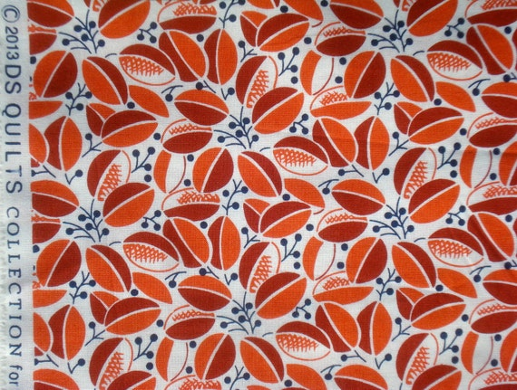 Union Station foliage orange DS Quilts Denyse Schmidt fabric  FQ or more