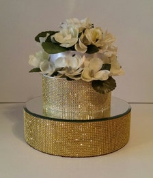 Gold Bling 14 Inch Round Cake Stand Cake Riser With A 14