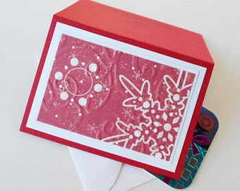 Christmas Gift Card Holder: Blank & Handmade - Winter Bliss