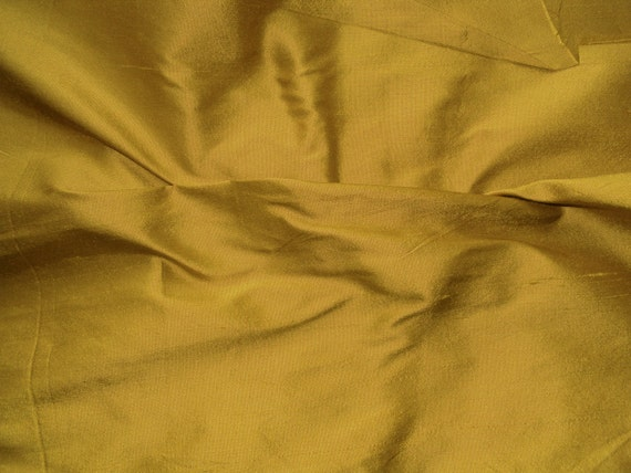 Silk Dupioni Fabric Antique Gold Color 100 Pure Silk