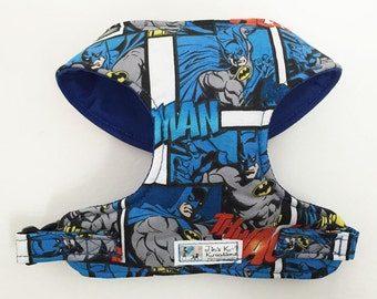 Comic Batman Comfort Soft Dog Harness - Made to Order -