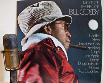 """Bill Cosby Vintage Vinyl LP Record Album 1970s Comedy Classics Jokes Observations Humor """"More Of The Best Of Bill Cosby""""(1970s Wb re-issue)"""