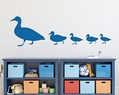 Cute  family of ducks animal----Removable Graphic Art wall decals stickers home decor