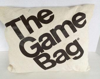 The Game Bag 70s Vintage Stadium Blanket in Bag Original Snuggie Sleeping Bag Pillow Blanket