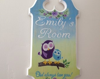 Child's personalized hand painted sign