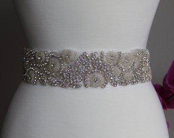 Elegant and gorgeous rhinestone trim, bridal sash, wedding sash, bridal belt, rhinestone belt, rhinestone sash, rhinestone applique