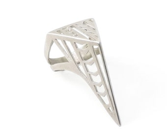 Silver Joan of Arc Ring