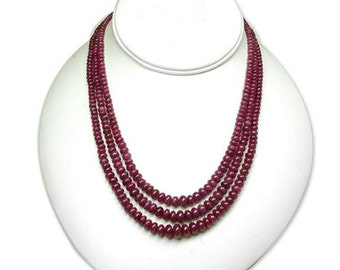 ruby necklace natural gems