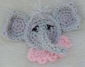 Cute Elephant Applique Crochet Pattern Instant Download by Teri Crews