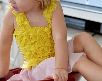 Sunny Yellow Ruffled Petti Tube Top with Straps-sizes 0-6Y