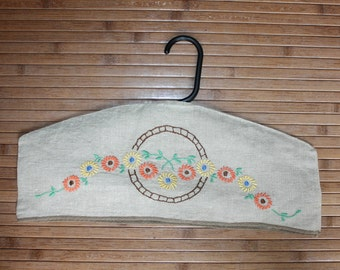 Clothes Hanger Cover Embroidered Linen