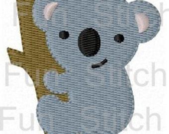 koala bear machine embroidery design