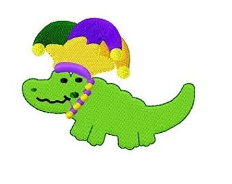 alligator with jester hat