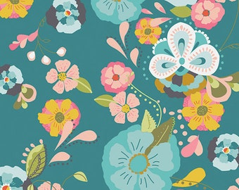 1 yard of Floral Floats Fresh EMG-4600 from Art Gallery Fabrics.