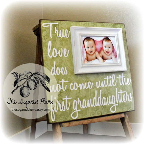 Twins Gift For Grandparents Personalized Grandparents Frame