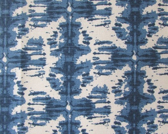 NOBU PACIFIC blue designer/decorator/drapery/bedding/upholstery fabric