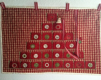 Countdown to Christmas Advent Calendar with tree marker - Free Shipping