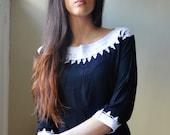 Autumn Black Resort Tunic Moroccan Dress -Reina Style-perfect for Birthdays , Resort wear, beach wear, party, bohemian, eid, Ramadan gifts
