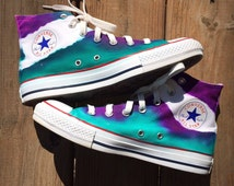 Galaxy Fissure Tie Dye Converse Shoes