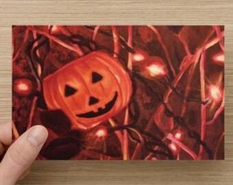Halloween JackOLantern greeting card