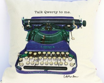 Talk QWERTY to me decorative pillow