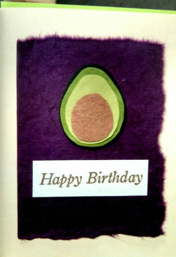 avocado birthday card
