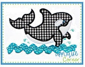 Boutique Style Whale Applique Shirt - Custom Embroidery  - Personalized Embroidery