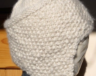 Knitted Wool Earflap Hat