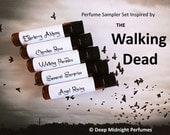 WALKING DEAD inspired PERFUME Sampler - Set #1