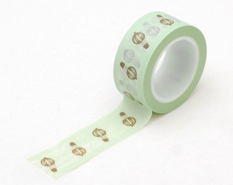 Washi tape- Mint with hot air Balloons - masking tape - Love My Tapes