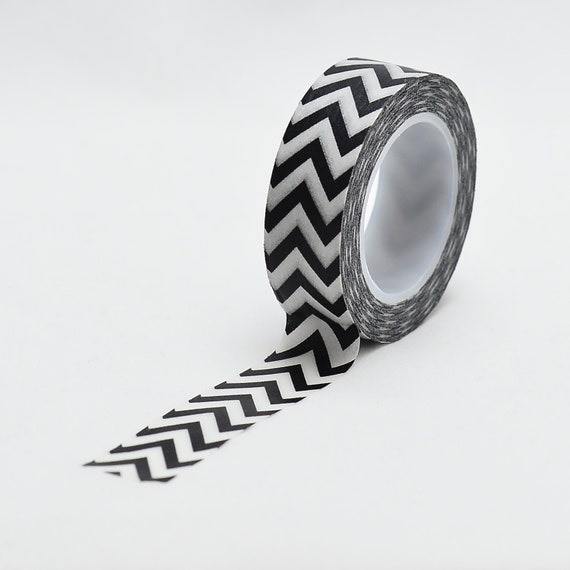 Black Chevron Washi Tape - LMT 1165 - Love My Tapes