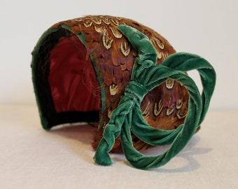 Pheasant Feather Vintage Hat
