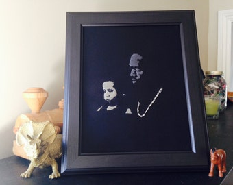Kanye West  - Only One - Hand-Stitched Portrait - Kanye and Nori