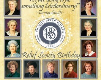 Relief Society Birthday Invitation