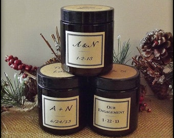 Winter Wedding, 50 Soy Candle Wedding Favors, Christmas Wedding, Mountain Wedding, Rustic Wedding, Handmade Wedding, Winter Wedding Decor