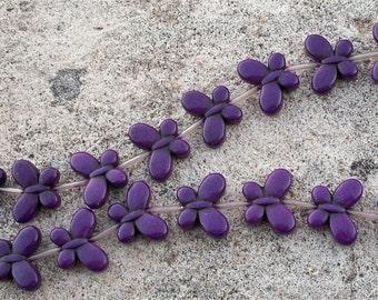 Butterfly Purple Howlite Stone Teeny Strand Tiny Butterflies