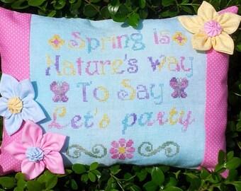 Think Spring Cross Stitch Pattern