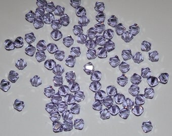 24 - 4mm Alexandrite Swarovski Crystal Xilion 5328 Bicone Beads Genuine Crystallized June Birth Month Birthstone Loose Jewelry Supply