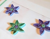 Lavender and Mint Quilled Flower Cards