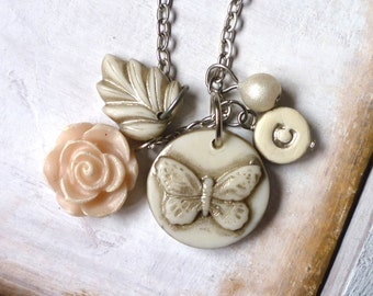 Butterfly Necklace - Personalized Jewelry - Monogram Necklace - Personalized with your initial