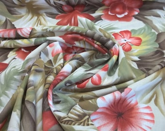 Elegant and Soft Tropical Print Rayon Fabric