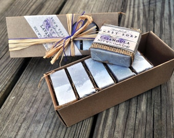 Lavandula Guest Soap Gift Pack- Lavender, Shabby Chic, Holiday, Soap Favor