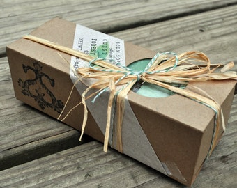 Forest Floor Guest Soap Gift Pack - Burlap,  Shabby Chic, Holiday