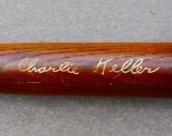 Souvenir from Yankee Stadium 1940's. Miniature Charlie Keller bat.
