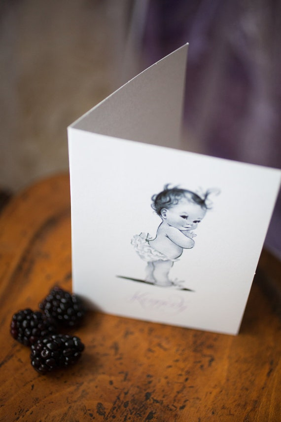 Baby Girl Lavender Note Cards