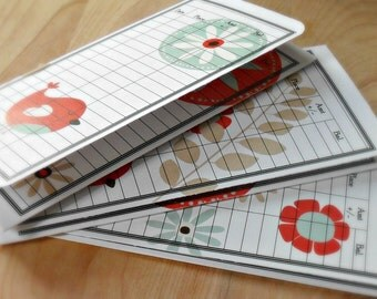 Money Envelope, Debit Card Balance Tracker, Receipt Holder, Stocking Stuffer -- Songbird and Flowers