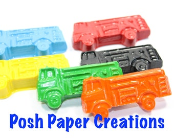 10 sets of 2 Small Firetruck crayons - choose your colors