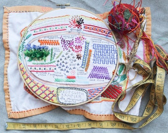 Dropcloth Embroidery Sampler- The Sequel